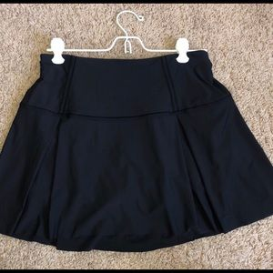 Black Lululemon Lost in Pace Tennis Skirt / Skort